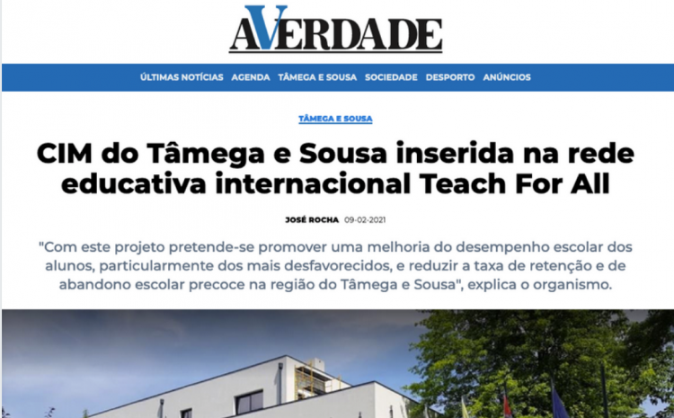 CIM do Tâmega e Sousa inserida na rede educativa internacional Teach For All