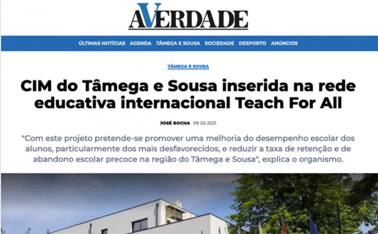 CIM do Tâmega e Sousa inserida na rede educativa internacional Teach For All