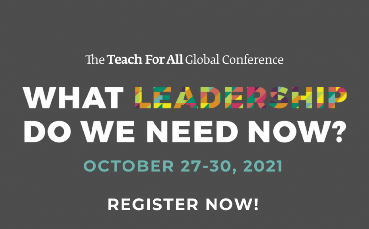 Inscreve-te na Teach For All Global Conference